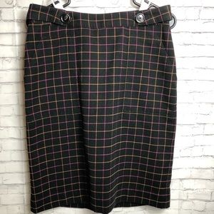 Merona Black-lined patterned Skirt with Pockets 6